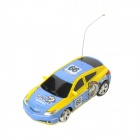 1:64 Mini 2-Kanal R / C Racing Car - Blau + Gelb