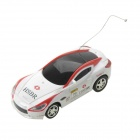 Mini 1:64 2-Kanal R / C Racing Car - White + Red