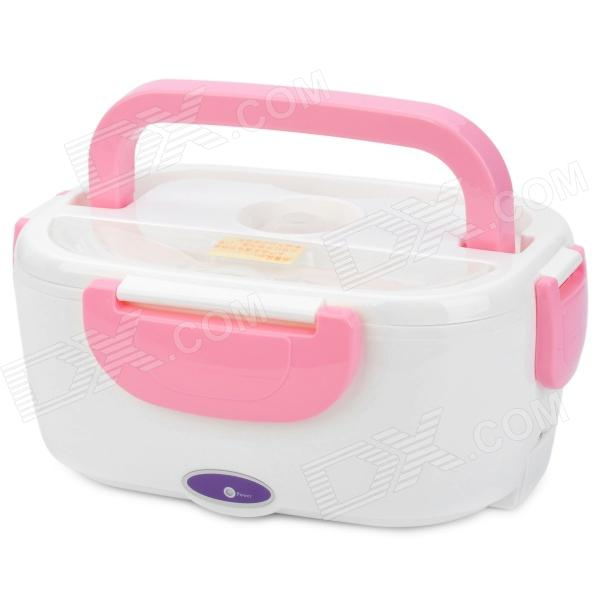 Multi-Functional Electric Heating Lunch Box with Handle - Pink oushiba multi function car electric food warmer lunch box blue white