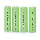 Rechargeable 1.2V 2000mAh AA NiMH Battery - Green (4 PCS)
