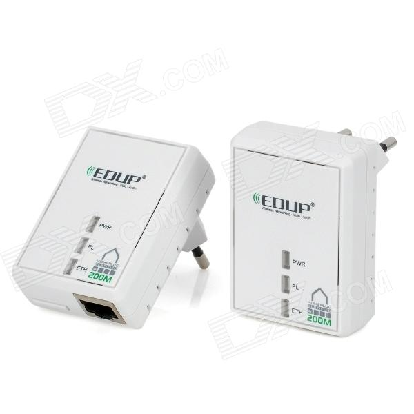 EP-PLC5511 Mini 200Mbps Ethernet Bridge Networking Adapters w/ RJ45 - White (2 PCS)