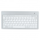 Mini Handheld Rechargeable 80-Key Bluetooth V2.0 Keyboard for Android Phone / Tablets - White