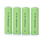 Rechargeable 1.2V 2200mAh AA NiMH Battery - Green (4 PCS)