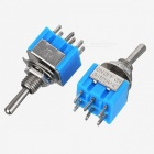 Interruptores Power + Toggle Power + Silver + Blue (10PCS)