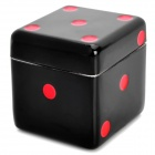 Dice Shaped Double Layers Herb Tobacco Cigarette Grinder - Red + Black
