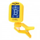 "FT-2001 1.2"" LCD Digital Chromatic Tuner for Guitar / Bass + More - Yellow (1 x CR2032)"