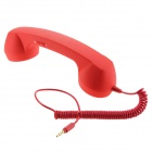 Anti-Radiation Retro Telephone Style Handset with Microphone for Iphone - Red (3.5mm Audio Jack)