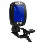 "FT-77 1.2"" LCD Digital Chromatic Tuner for Violin / Guitar / Bass - Black (1 x CR2032)"