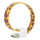 Bracelet Style Micro USB Data Transmission and Charging Cable - Yellow