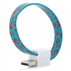Bracelet Style Micro USB Data Transmission and Charging Cable - Blue