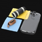 8x Zoom Telescope Lens w/ Back Case for Samsung i9300 - Black + Silver
