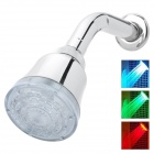 LED 3-Color Water Temperature Visualizer Sensor Round Shower Head