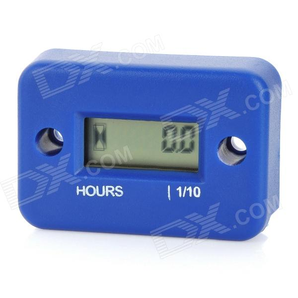 "1.0"" LCD Screen Hour Meter for Motorcycle / ATV / Snowmobile / Marine - Blue (1 x CR2430)"