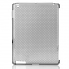 Protective Diamond Pattern TPU Back Case for iPad 2 / the New iPad - Deep Grey