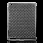 Protective Diamond Pattern TPU Back Case for iPad 2 / the New iPad - Transparent
