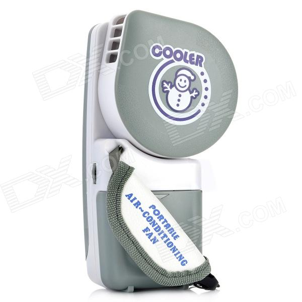 FS-002 Portable USB Air-Conditioning Cooling Fan - Grey (4 x AA)