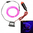 D12072601X Electro-Luminescent Wire w/ Cigarette Lighter / Drive - Purple (DC 12V / 220cm-Length)