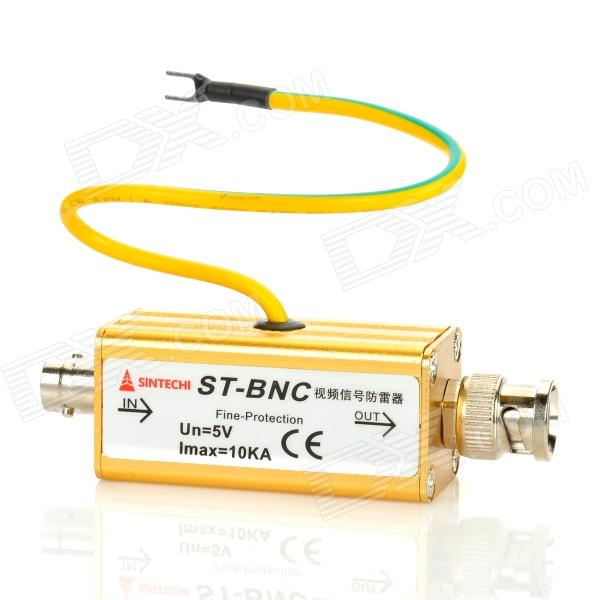 BNC Industrial / Home Lightning Surge Protector for Security Camera - Golden (DC 5V)