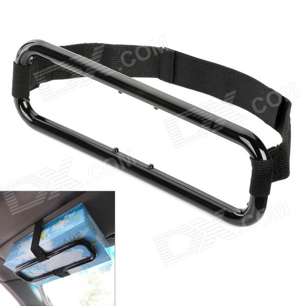 D12072603X Fashion Car Visor Tissue Paper Plastic Box Holder for Back Seat - Black