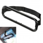 Fashion Car Visor Tissue Paper Plastic Box Holder for Back Seat - Black