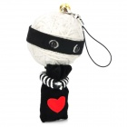 Saan Ha Voodoo Heart Thief Doll - White + Black