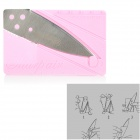 Cute Folding Credit Card Style Safety Knife - Pink