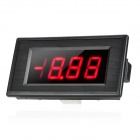 LED Red Voltmeter Power Battery Monitor Panel Digital Meter w/ 4-Pin Pigtail Wires - Black (DC 20V)
