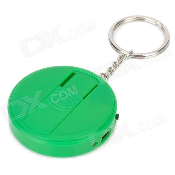 Fly Eagle FE808 USB Rechargeable Electronic Cigarette Lighter Keychain - Green fly eagle fe808 usb rechargeable electronic cigarette lighter keychain green
