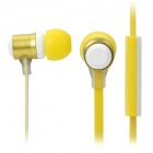 CK-820 Stylish In-Ear Earphone w/ Microphone - Yellow + White