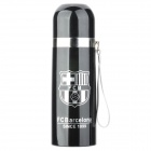 Barcelona Football Club Badge Sports Aluminum Water Bottle w/ Strap - Black (350ml)