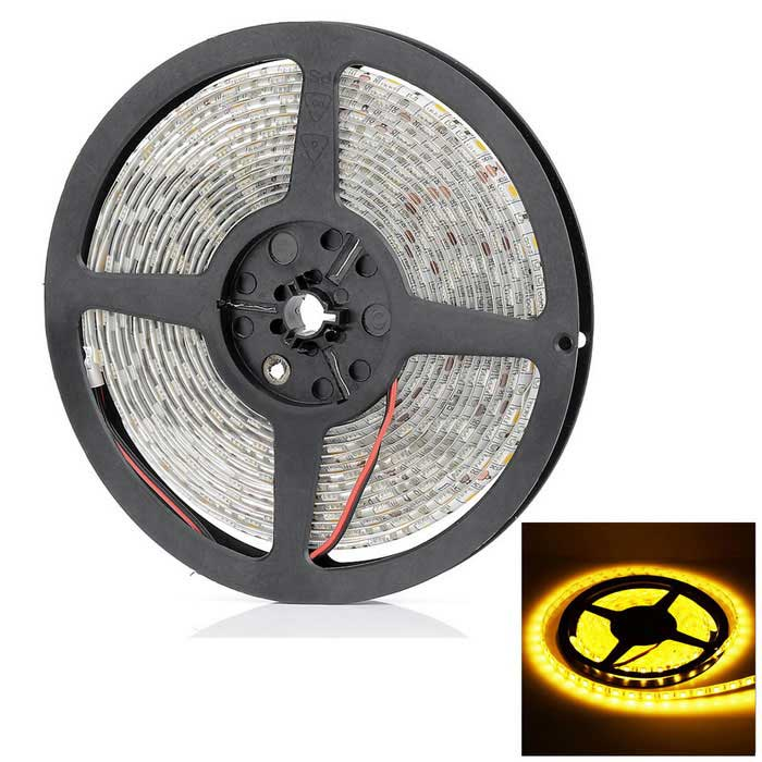 72W 4100LM 3300K 300 x 5050 SMD LED Warm White Light Waterproof Flexible Strip (5M / DC 12V) zdm waterproof 72w 200lm 470nm 300 smd 5050 led blue light strip white grey dc 12v 5m
