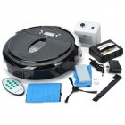 icubot-007 2.2&quot; LCD Automatic Intelligent Sweeping Robot Vacuum Cleaner - Black