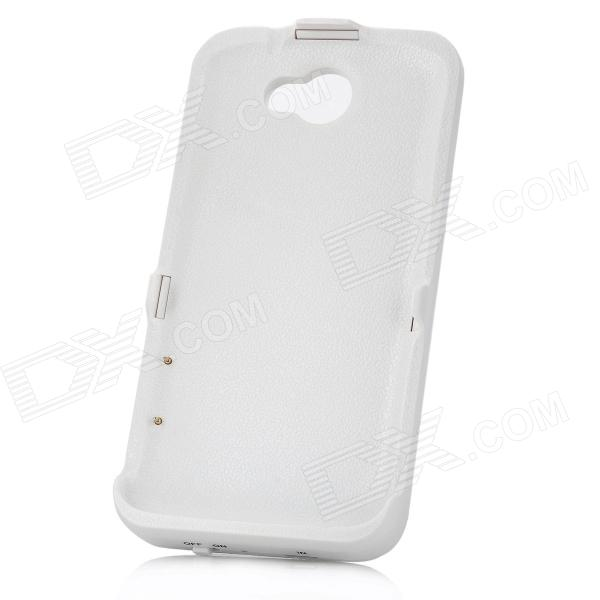Rechargeable 3500mAh External Battery Back Cover for HTC One X - White