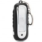 TX365 Eco-Friendly Electronic Cigarette Lighter w/ Data + Charging USB Cable - Black + Silver