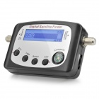 "SF-9505A 2.3"" Digital Satellite Signal Finder Meter w/ Compass - Black"
