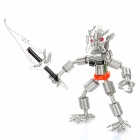 Creative Handcraft Iron Wire Robot Display Model Toy - Silver + Black