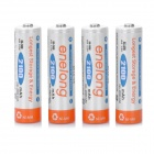 Rechargeable AA 2100mAh NI-MH Battery - Orange + White (4 PCS)