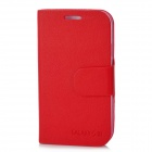 Protective PU Leather Flip-Open Case w/ Stand for Samsung i9300 Galaxy S3 - Red