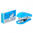 Mini Stainless Steel Stapler + Staple Set - Blue + Silver