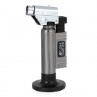 BS-260 1300'C Adjustable Butane Jet Torch Lighter w/ Stand - Silver + Grey