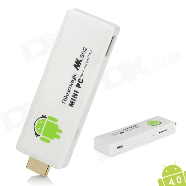 Rikomagic MK802 II Android 4.0.4 Mini PC w/Wi-Fi/HDMI/ESD-White(1GB RAM/4GB)