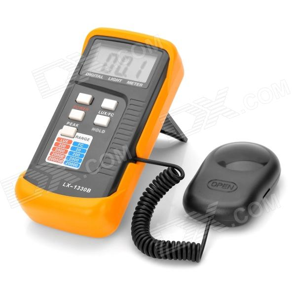 2.2 LCD Digital Light Meter - Grey + Orange (1 x 9V) 2 1 lcd portable 3 mode digital illuminance light meter 100000lux 1lux 1 x 6f22
