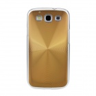 Protective ABS + Aluminum Alloy Case for Samsung i9300 Galaxy S3 - Golden
