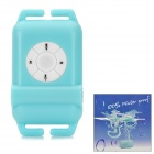 Water Resistant MP3 Player w/ FM Radio - Blue (4GB)