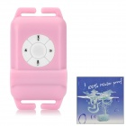 Water Resistant MP3 Player w/ FM Radio - Pink (4GB)