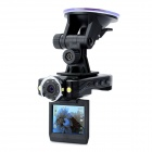 "2.0"" TFT 5.0MP CMOS Wide Angle 8-IR Night Vision Car DVR Camcorder w/ HDMI / Mini USB - Black"