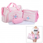 Multi-Function 3-in-1 Infant Baby Thing Storage Bag - Pink