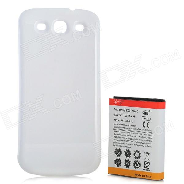 Replacement Extended 3600mAh Battery w/ Back Cover for Samsung Galaxy S3 i9300 - White original a1706 a1708 lcd back cover for macbook pro13 2016 a1706 a1708 laptop replacement