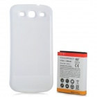 Replacement Extended 3600mAh Battery w/ Back Cover for Samsung Galaxy S3 i9300 - White