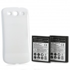 Replacement 2300mAh Battery + 4300mAh Extended Battery w/ Back Cover for Samsung Galaxy S3 - White